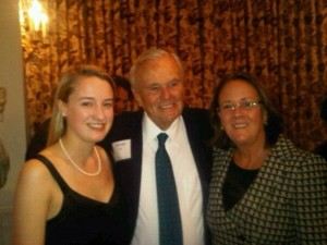 Emily with Former Secretary Nicholas Brady and her daughter Sarah Walker in London 2013